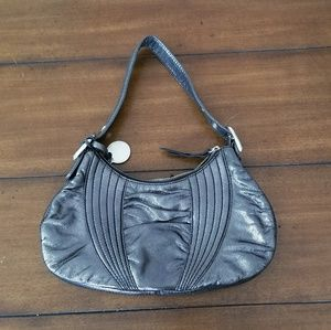 NWT Stuart Weitzman small gray metallic purse